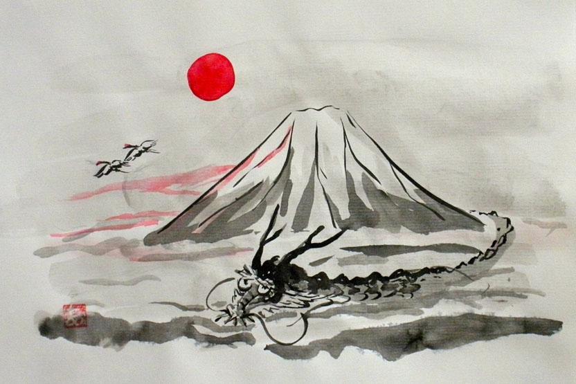 japanese ink painting sumi e resobox japanese culture