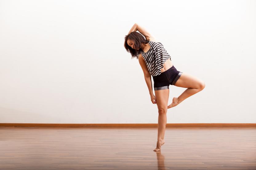 a woman jazz dancing