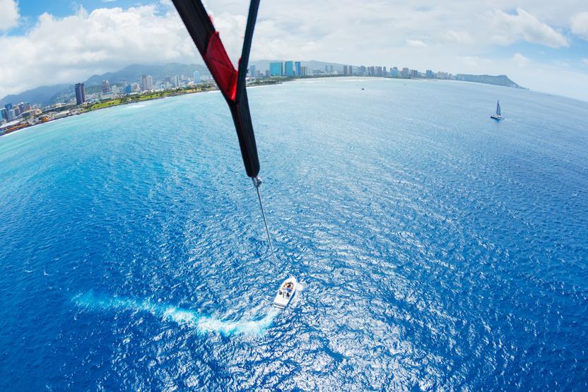 single 1200 foot line parasailing lahaina harbor west maui parasail extreme sightseeing water