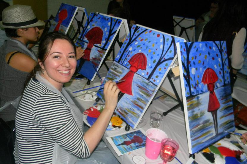 wine down wednesdays paint and sip studio la diy