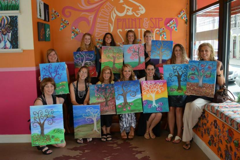 Saratoga And Burlington Paint And Sip Studio