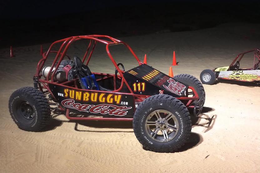 The Mini Baja Chase After Dark Sun Buggy Fun Rentals