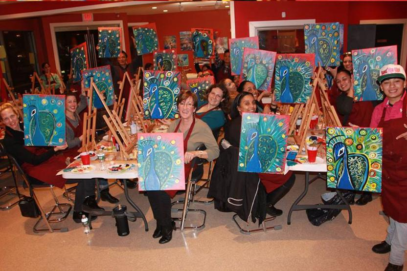 paint and sip 35 uptown art montclair wine create