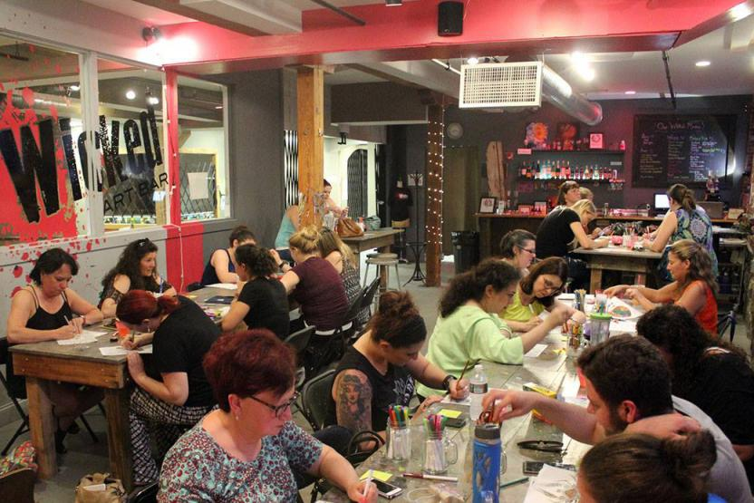 Wicked Art Bar Coloring Book Night
