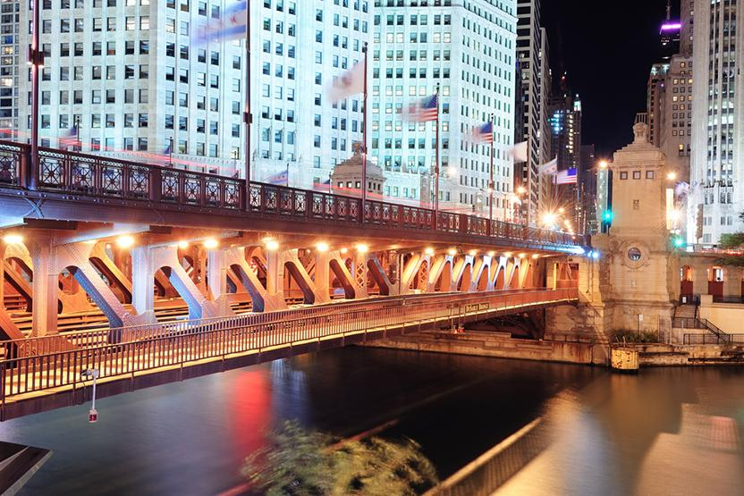 Chicago Architecture At Night