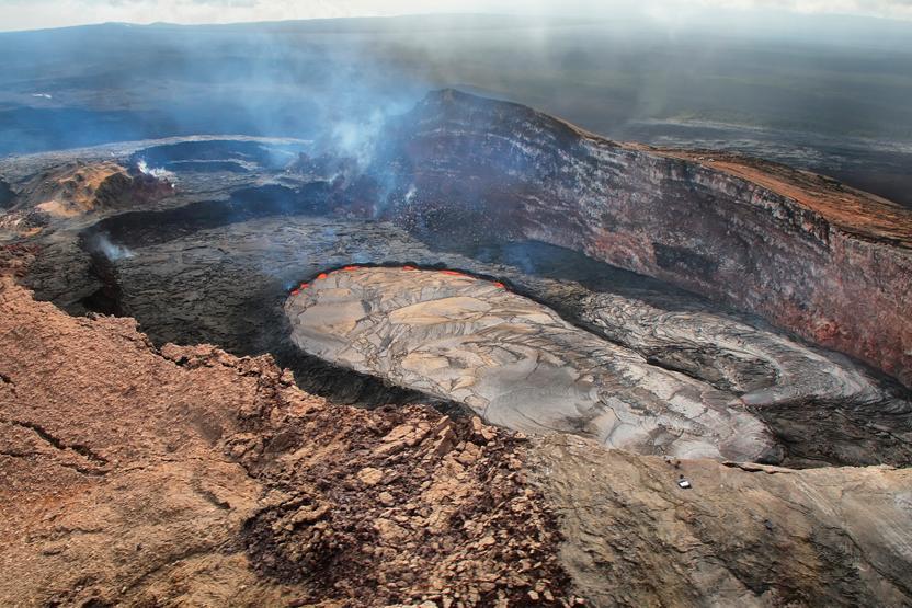 Hawaii Volcano Aerial