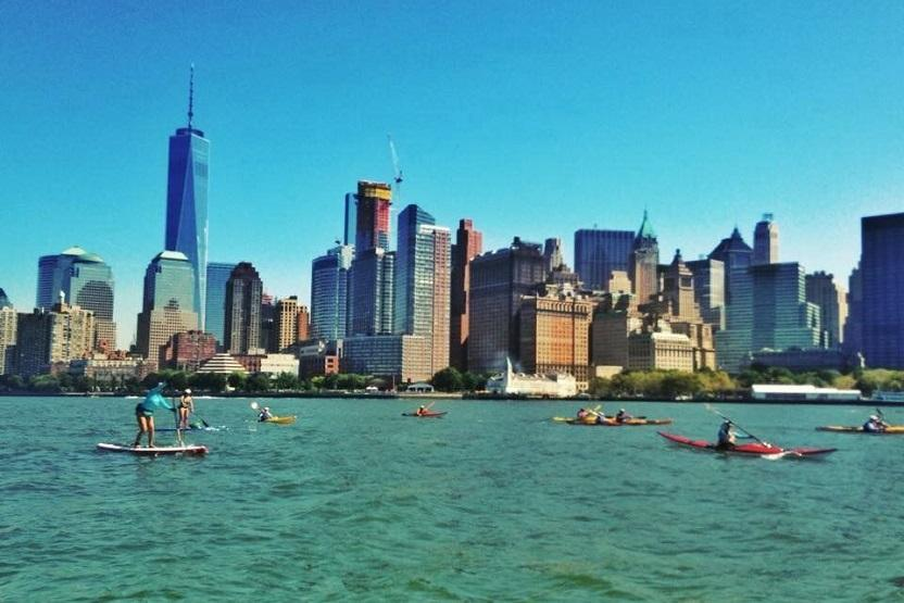 Manhattan Kayak Nyc Skyline