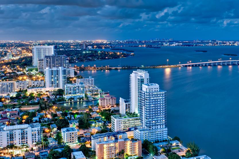 Miami Beach Night Aerial