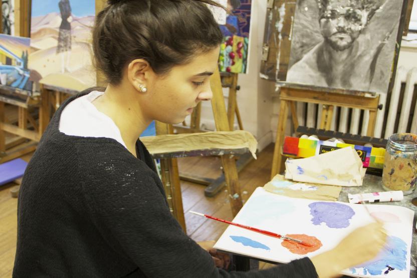 New York Art Studio Beginning Painting