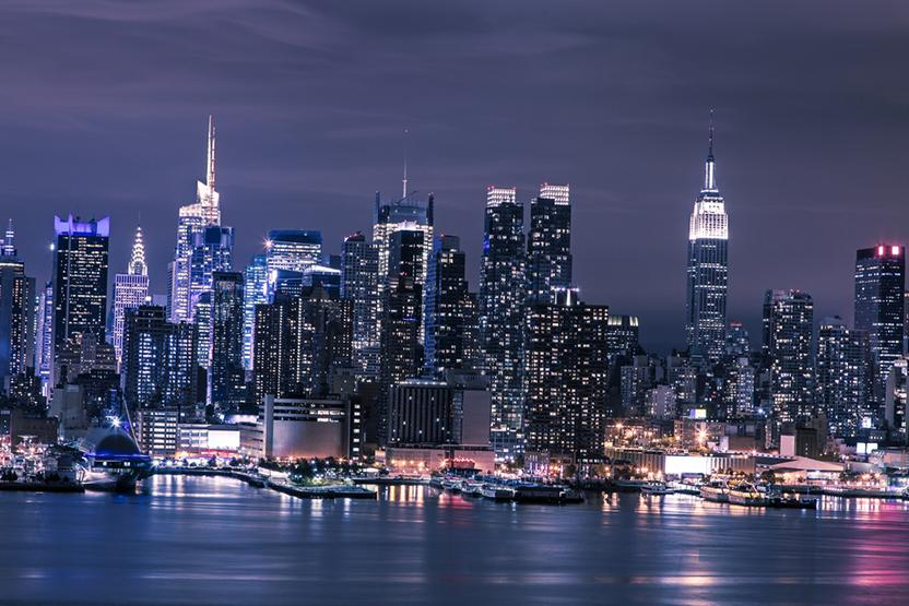 Nyc Skyline Night