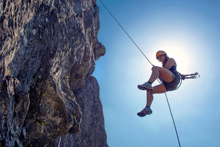 an introduction to the definition of rappelling and ascending Getting to the top of any route is a success, but it also means one thing:  five  set up your auto-block (climbingcom/skill/rappel-to-ascend) so.