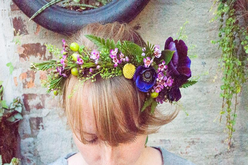 Rose Red Lavendar Flower Crowns