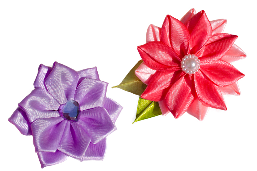 Silk Flower Brooches