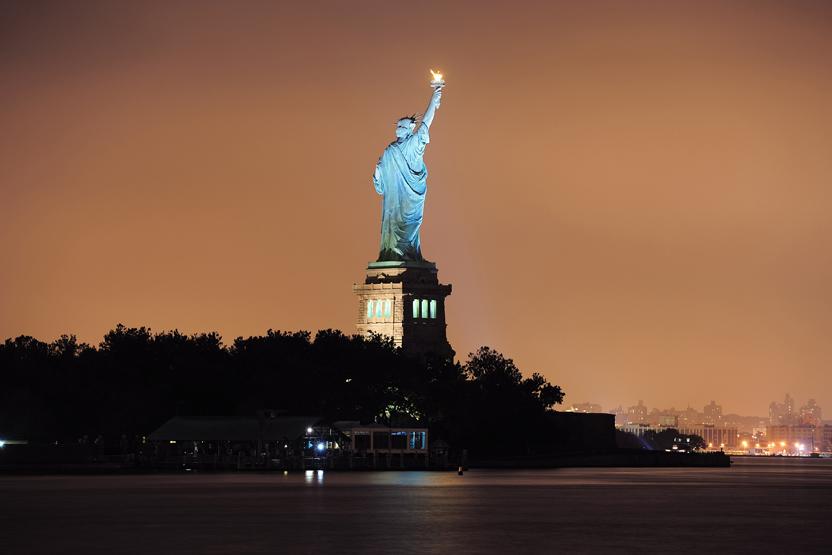 statue of liberty night - photo #22
