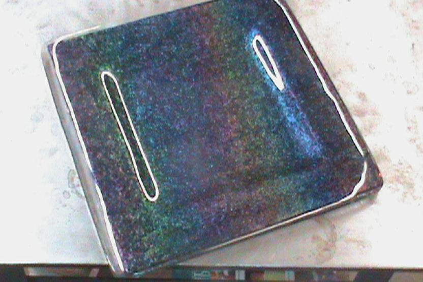 V Dinner Ware Glass Plate Making 9396