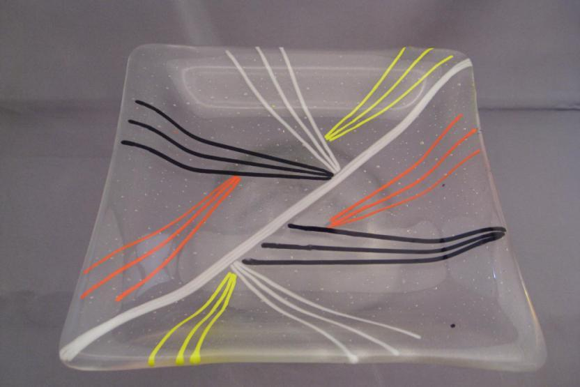 V Dinner Ware Glass Plate Making 9396