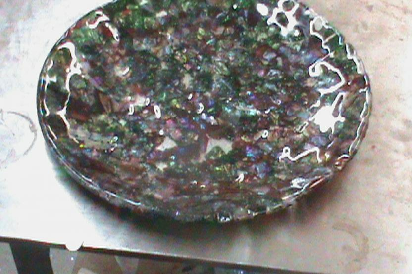 V Glassblowing Plate Making 3746