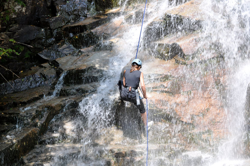 Waterfall Rappelling Delaware Water Gap Northeast