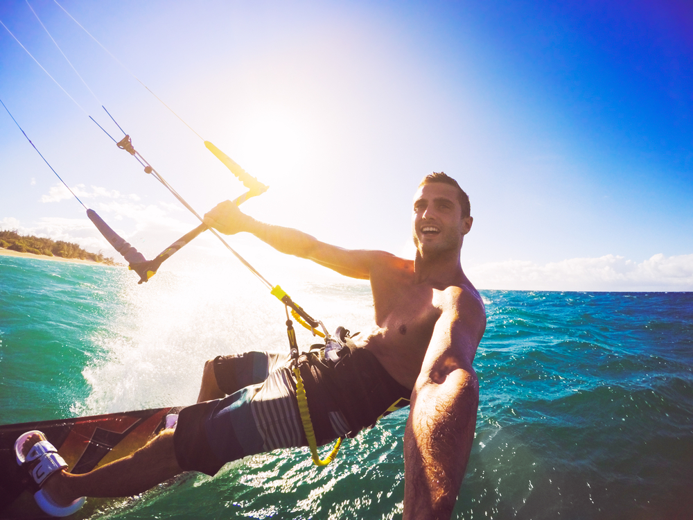 miami water date ideas kiteboarding