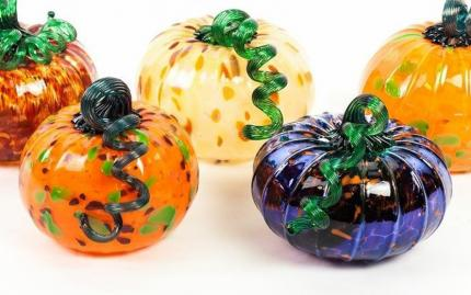 Ignite Glass Pumpkin Glassblowing Workshop