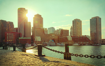 Boston Harbor Sunset