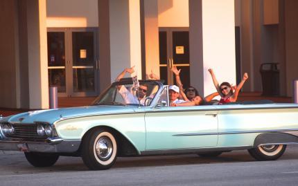 City Tour Antique Car Ocean Drive