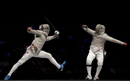 Fencing Lesson in the Park