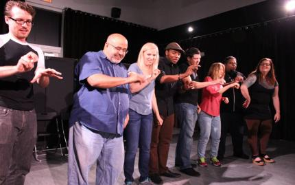 Improv Rising Cage Free Humans