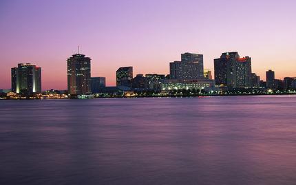 New Orleans Skyline Night
