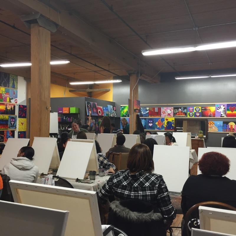 Byob painting class 35 wet paint chicago diy learn for Painting class chicago